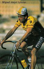 CYCLISME carte cycliste MIGUEL ANGEL IGLESIAS équipe PUERTAS MAVISA