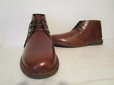 Andrew Marc Mens Walden Leather Lace Up Oxford Chukka Boots Brown Size 9