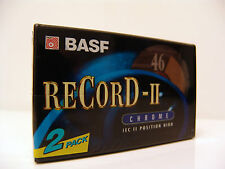 BASF Record-II Chrome IEC II Position Hi 46min. Blank Audio Cassette (Pack of 2)