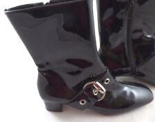 """Franco Sarto Patent Leather Boots Size 6M  Zipper Side 9"""" high"""