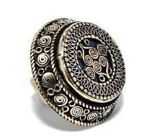 Vintage Afghan Kuchi Ring Tribe Carved Antique Jewelry Turkmen Ethnic Signet