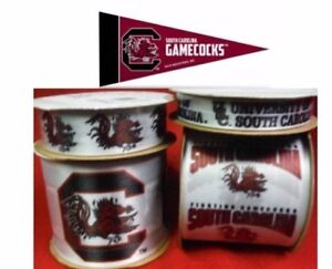 South Carolina Gamecocks Licensed Offray Ribbons & Mini Pennants