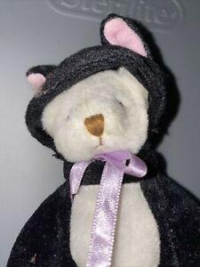 "5"" Ganz Wee Bear Village Black Cat Costume"