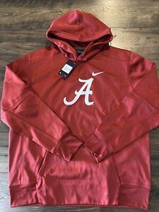 Nike Therma-Fit Alabama Crimson Tide Football Gym Pullover Hoodie Sweatshirt XXL