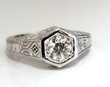 .70ct Vintage Old Mine Cut Diamonds ring 14kt