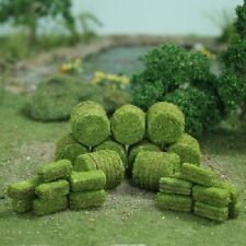 MP Scenery Products 70049 - HO Scale - Green Hay Bales 30/pk 10 Rd. and 20 Rec.