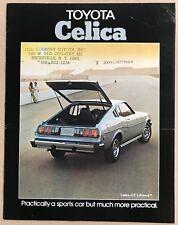 1976 Toyota Celica original American sales brochure.