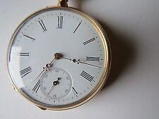 Herren Taschen Uhr.  Gold 585.  Remontoir. Handaufzug.