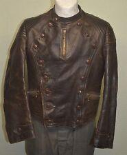Original Old 1930s German Flight Leather Jacket BMW Motorcycle Racing Vest DKW