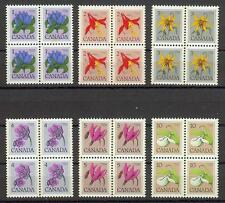 Canada 1977 Sc# 705-711 Flowers blocks 4 MNH