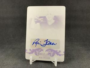 2015 LEAF NATIONAL REDEMPTION RIC FLAIR NSCC-RF1 BLACK PRINTING PLATE AUTO 1/1