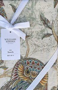 Williams-Sonoma Owl Tea Towels Set/2