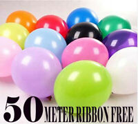 "100 PCS HELIUM Pearlised Latex Balloons 10"" Wedding Birthday CHRISTENING Party"