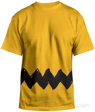 Peanuts- Charlie Brown Costume Tee (Front/Back) Apparel T-Shirt XL - Gold