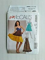 McCalls 5652 EASY Misses Dresses UNCUT Sewing Pattern Size 12-18 OOP