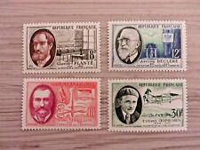 Briefmarken Frankreich Berühmte Wissenschaftler 1957  postfr. 1 Satz 4 Werte