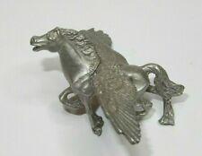 Pegasus figurine pewter metal miniature vtg winged horse Mystical