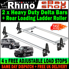Land Rover Discovery 3 & 4 Roof Rack Bars With Rear Roller and LOAD STOPS Rhino