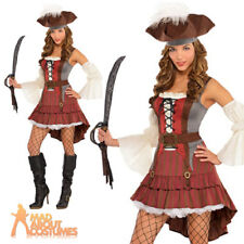 Womens Castaway Pirate Fancy Dress Costume Adults Outfit Carribean Plus Size 0809801748421