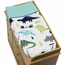Changing Table Pad Cover For Sweet Jojo Blue Green Mod Dinosaur Baby Bedding Set