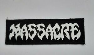 Massacre patch,death metal,slayer,punk,Death,Obituary,Dismember,Venom,Carcass