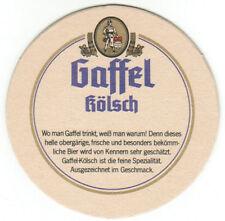 Bierdeckel Privatbrauerei Gaffel Becker & Co. OHG Gaffel Kölsch