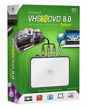NEW! Convert Transfer Old VHS Tapes, Beta 8mm, Camcorder Tapes to DVD 8.0 Deluxe