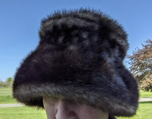 Hat by Parkhurst Brown Furry Faux Fur Canada Vintage!   APR21