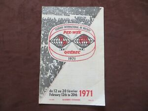 1971 Pee Wee Quebec Hockey International Tournament Program Payne Kotsopoulos...