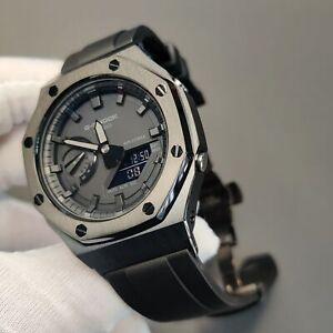 G Shock GA-2100 2110 Watch Case Adapter Metal 2rd Bezel Fluororubber  Watch Band