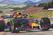 Canvas print Max Verstappen (NED) wins the Austrian GP 2018 by Toon Nagtegaal LE