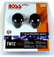 TW12 BOSS AUDIO Car Bullet & Dome Tweeter (Micro-Dome Chrome Tweeter)