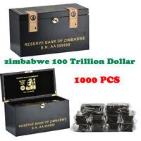 WR Zimbabwe 1000pcs 100 billones de dólares Perfect Collection Gifts & Caja