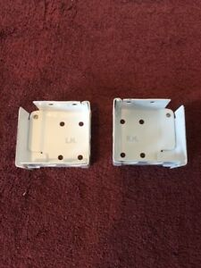 "High Profile Box Mounting Bracket Set for Window Blinds White 2""H x 2.25""W"