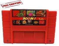 SUPER 900 in 1 Game 16 Bit For Nintendo SNES Game Multi Cart Cartridge NTSC-U/C