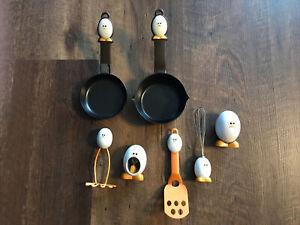 Joie JO!E Chicken Egg MiniPan Set, Twist and Hourglass Timers, Masher, Spatula +