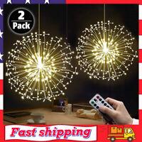 2 Pack Fairy String Lights 198 LED Dandelion Firework Lights Starburst Light