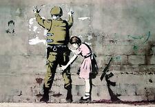Banksy Poster Soldat und Mädchen