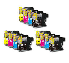 12PK Printer Ink Set w/ Chip for Brother LC201 LC203 XL MFC J680DW J880DW J885DW
