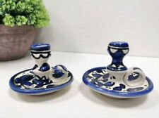 hand made & painted Candlestick decorate home for Jewish from Isreal holy land