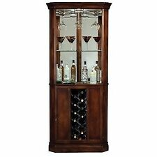 howard miller piedmont wine and spirits corner home bar cabinet in cherry