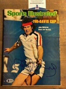 John McEnroe Wimbledon Signed Autographed Sports Illustrated Magazine BAS COA