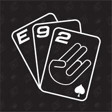 Jeu de cartes E92 - Mise au point étiquette, choquant FUN VOITURE