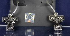 TEXAS TECH- Red Raiders Earrings Metal   CUTE!  Licensed Collegiate Jewelry  TT
