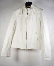 Burberry Womens White Cloth Full Zip Jacket L