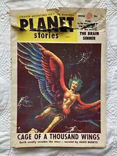 Planet Stories Spring 1955 USA Earth cruelly invades the stars Novelet Magazine