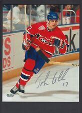 John Leclair autographed 8x10 photo Montreal Canadians Red Jersey SGC Authentic