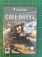 RARE NINTENDO GAMECUBE GC BOXED BOITE OVP CALL OF DUTY 2 BIG RED ONE PAL