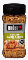 Weber Roasted Garlic And Herb 7.750Z Seasoning Great on the Grill Griddle Smoker