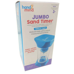Learning Resources Sand Timer Hand2Mind Jumbo 1 Minute